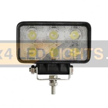 18W-os, 6 LED-es munkalámpa, kiegészítő lámpa