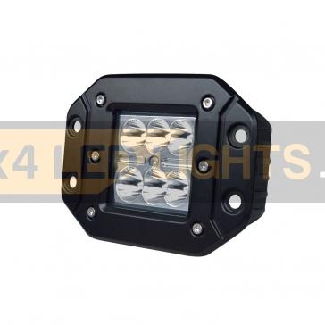 18W-os, 6 LED-es munkalámpa, kiegészítő lámpa, lökhárítóba szerelhető