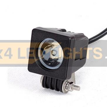 10W-os, 1 LED-es fényszóró, munkalámpa, kiegészítő lámpa, szögletes