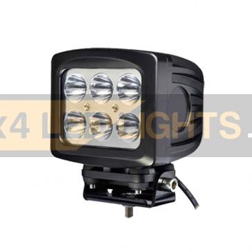 60W-os, 6 LED-es munkalámpa, kiegészítő lámpa