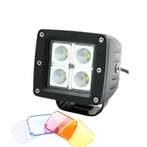 16W-os, 4 LED-es fényszóró, munkalámpa